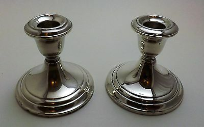 Vintage Pair of GORHAM STERLING SILVER Candle Holders Weighted Reinforced 661