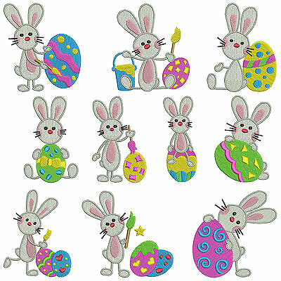 * EASTER BUNNY * Machine Embroidery Patterns * 10 designs in 2 Sizes