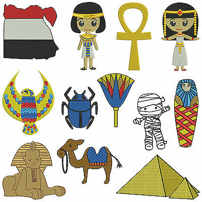 * EGYPT 1 * Machine Embroidery Patterns * 12 designs in 2 sizes