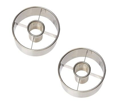 Ateco Stainless Steel Doughnut Cutters, Large, 2 Pack - 14423
