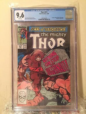 Thor #411 - CGC 9.6 - 1st Appearance New Warriors White Pages
