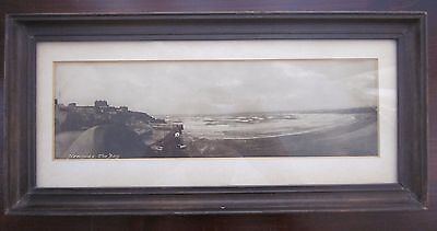 Antique RP Photo Newquay Bay framed. Cornwall Cornish