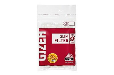 GIZEH POP-UP 5 FULL BOXES EXTRA SLIM FILTERS =50 PACKS =6300 FILTERS!!