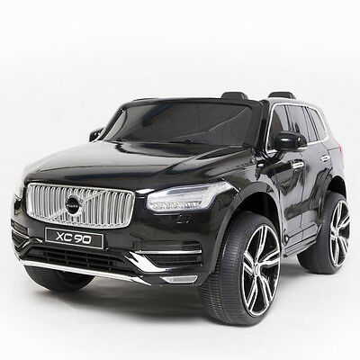 Black Licensed Volvo XC90 SUV Kids Electric Ride-On Car Toy with Remote