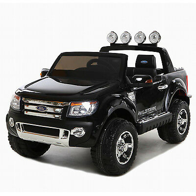 Black Licensed Ford Ranger 4X4 UTE Kids 12V Electric Ride-On Car Toy with Remote
