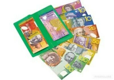 100 X Australian Play Money Laminated Notes Teacher Resource Realistic Kids