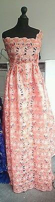 African Lace Soft Handcut Sequins Fabric for Weddings and Occassions Per Yard