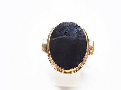 Jugendstil Herrenring Fingerring Onyx Gold Double Gr. 65  Topas  Ring Nr.53