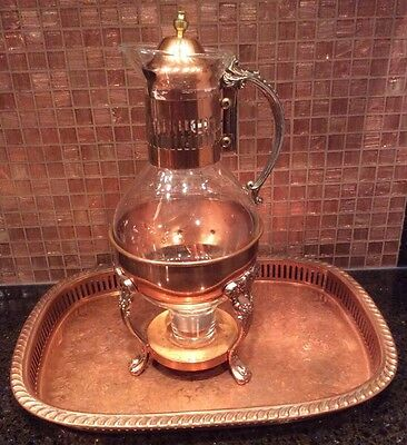 Vintage Princess House Copper Carafe With Tray