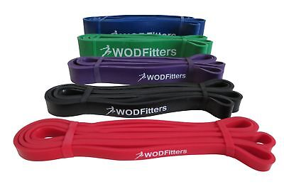 "New WODFitters Pull Up Assist / Mobility Exercise 41"" Loop Resistance Bands WOD"
