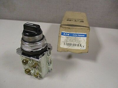 New Eaton Cutler Hammer 10250T1343-11 Selector Switch 3 Position
