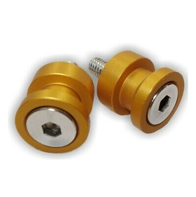 MOTORCYCLE RACE STAND KNOBS | LIFT PEGS | 8mm | ANODISED GOLD