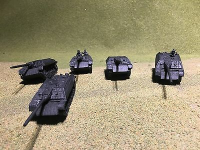 1/100th (15mm) WWII German Unpainted Jagdpanzer IV Wargaming Model Set of 5