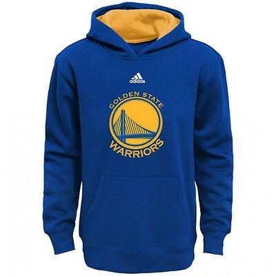 Golden State Warriors YOUTH BOYS Sweatshirt Logo Pullover Hoody by Adidas