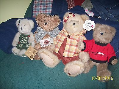 Lot of 4 Boyds Bears 3 with Tags All for 1