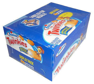 10 x Hostess Twinkies Individually Wrapped Cakes 385g box