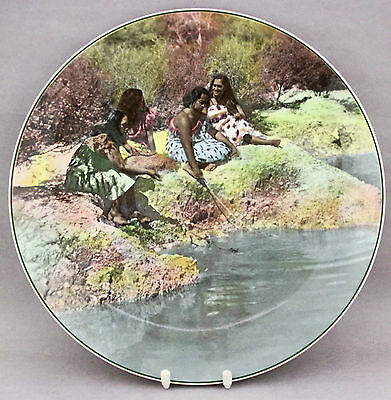 Vintage Royal Doulton Maori Women Cabinet Plate D6305 Charger Collector Series