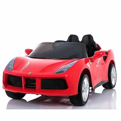Red 2 Seats 12V Rechargeable Kids Electric Ride On 2 Speed Car with RC Light
