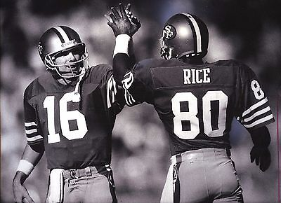 Mulitple Sizes Available 001 ** JOE MONTANA AND JERRY RICE ** POSTER