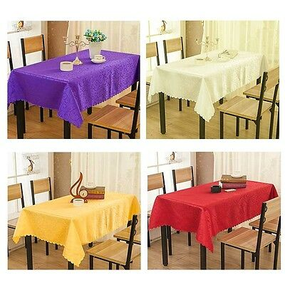 Modern Round Square Rectangle Hotel Dinner Table Cloths Cover Polyester Decor