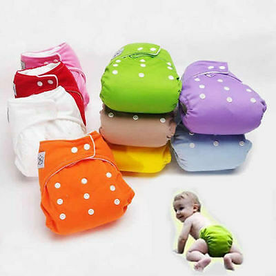 Cotton Reusable Baby Infant Nappy Dotted Cloth Washable Diapers Soft Covers 0-3Y