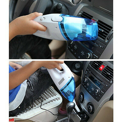 12V Mini Portable Car Vehicle Auto Recharge Wet Dry Handheld Vacuum Cleaner Blue