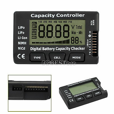 LCD Digital Battery Capacity Voltage Checker Controller Test For LiPo LiFe Liion