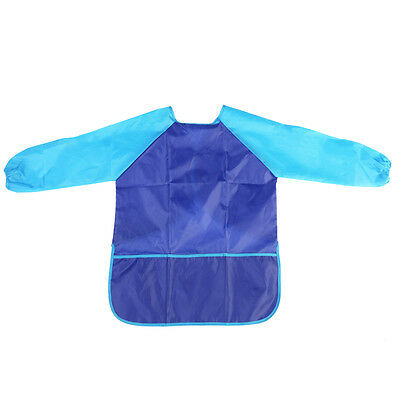 Craft Children's Apron Smock Waterproof Long Sleeve with 3 Pockets for Painting