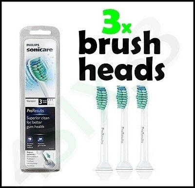 Sonicare ProResults Sealed Pack Of 3 Replacement Toothbrush Heads HX6013