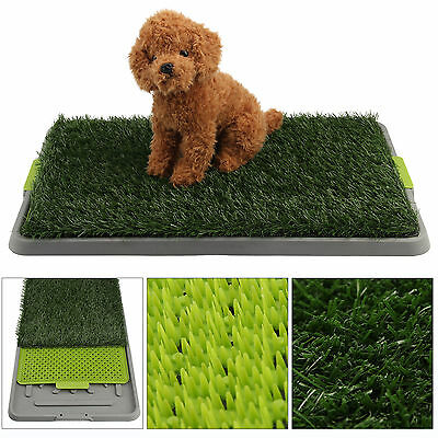 New Indoor Pet Toilet Dog Grass Restroom Potty Training with Tray and Loo Pad