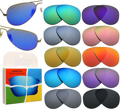 New Replacement Polarized Lenses For Ray Ban RB3025 Aviator 58mm Sunglasses B001