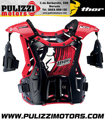 Pettorina Moto Cross Enduro Thor Mx S14 Quadrant 2017 Taglia Adult Corpetto
