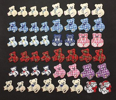 Bulk Lot 99x Embroidered Iron On Patch Motif Cloth Applique DIY Sewing Bear New