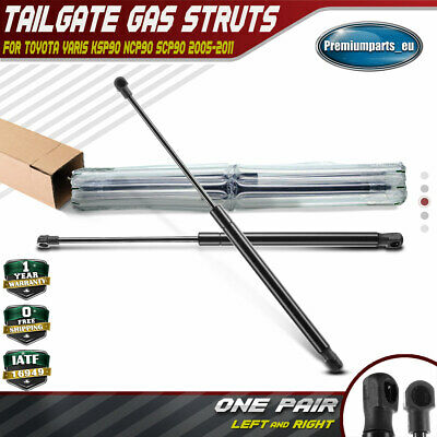 2x Tailgate Rear Boot Gas Struts Springs for Toyota Yaris 2005-2011 Hatchback
