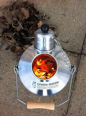 Medium Explorer Ghillie Kettle. Silver, hard anodised or aluminium. Made in UK.