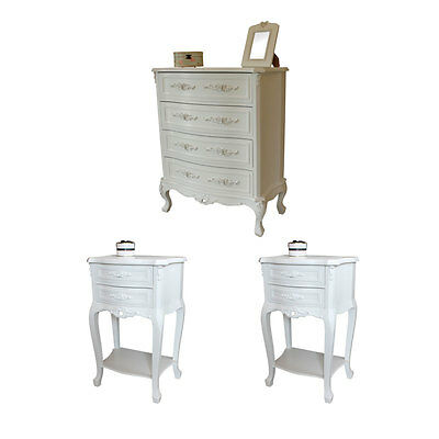 White rose range french style bedroom furniture shabby vintage home chic