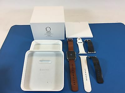 ***Original Apple Watch Series 42mm Stainless Steel with Extra Leather Bands