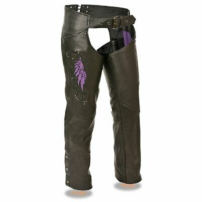 1179 or 1179.08 Ladies Black or Purple Wing Chaps