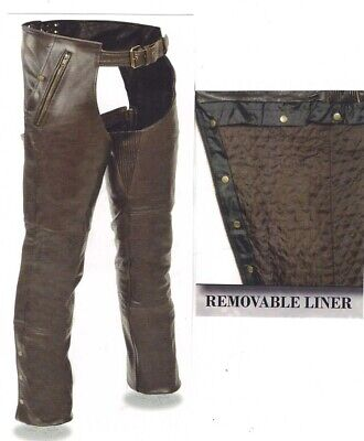 1191RT Retro Brown Leather Chaps