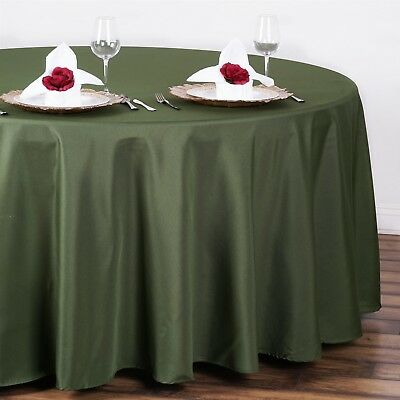 "Willow Green 108"" Seamless Polyester Round Tablecloth ~NEW~ Wedding Party"