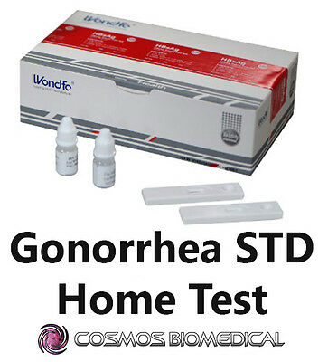 Gonorrhea STD Test - Rapid one-step swab/urine home test kit for male & female