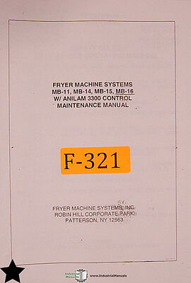 Fryer MB Series Mill Anilam 3200 and 3300 Control Maintenance Manual