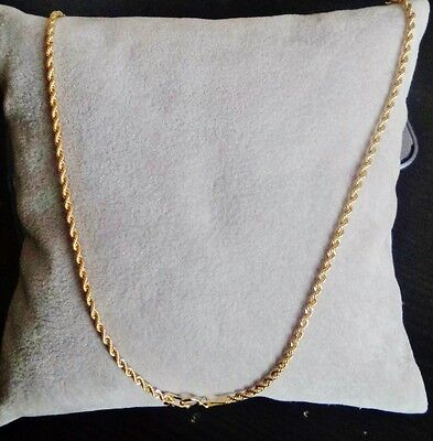 COLLIER OR MASSIF 750 18K CARATS 50cm 1,63mm FEMME HOMME TORCHON GOLD NECKLACE
