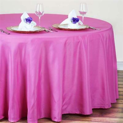 Fuchsia / Hot Pink 120 in. Polyester Seamless Tablecloth~Wedding~NEW