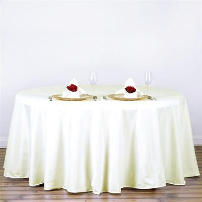 Ivory 120 in. Polyester Seamless Tablecloth~Wedding~NEW