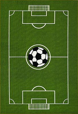 "All Stars Soccer Ground Kids Rug 39"" L x 60"" W 3' 3"" x 5'"
