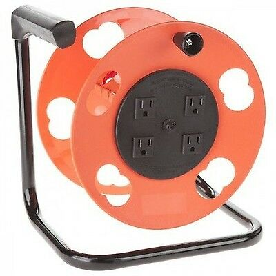 Bayco SL-2000PDQ Cord Storage Reel with 4 Outlets and Resettable 15-Amp Circu...