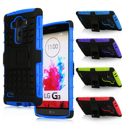 Shockproof Rugged Armor Hybrid Impact Kickstand Phone Hard Case Cover for LG 3/4