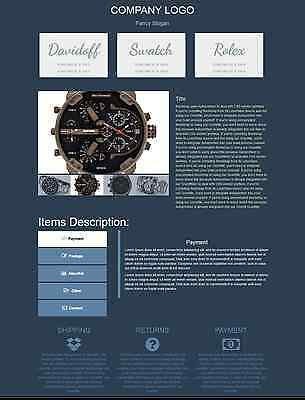 2017 Template Listing Ebay Auction Professional Design Html Simple Responsive