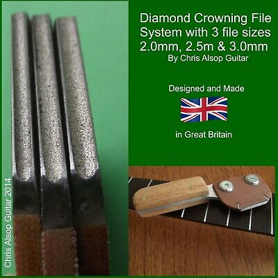 Fret Crowning File with 2.0mm, 2.5mm and 3.0mm Concave Diamond Files. TF084